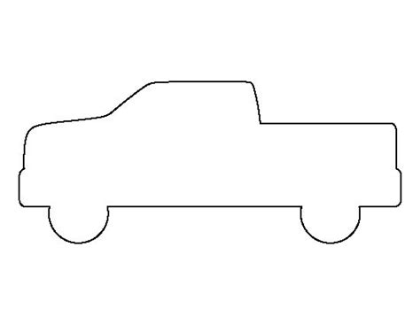 truck template truck pattern use the printable outline for crafts creating stencils scrapbooking and
