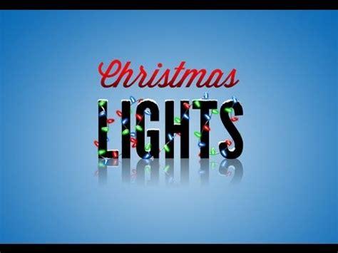 photoshop tutorial christmas lights youtube