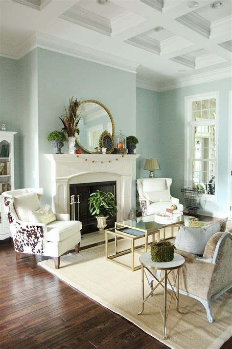 fall decor in a formal living space wall color sherwin