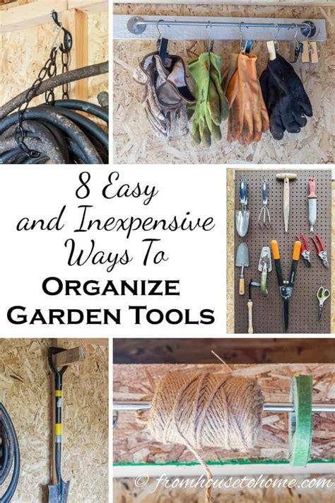 easy  inexpensive ways  organize garden tools