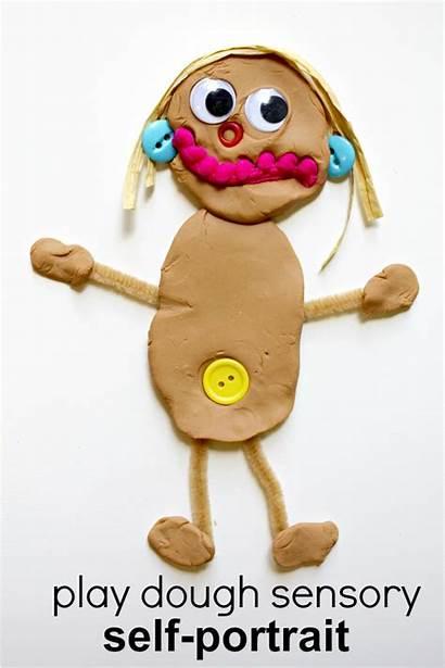 Portrait Preschool Self Sensory Activities Playdough Play
