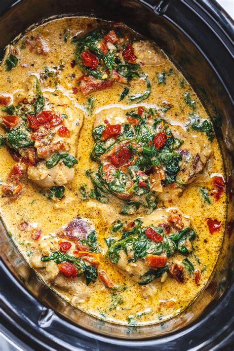 crockpot tuscan garlic chicken recipe