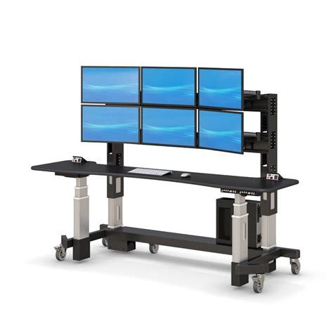 adjustable sit stand desk adjustable sit stand up security desk afcindustries com