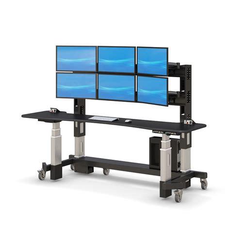 ergonomic stand up desk adjustable sit stand up security desk afcindustries com