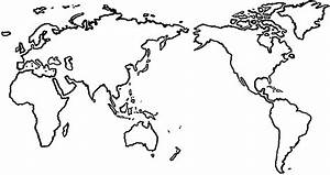 Image Gallery large world map outline