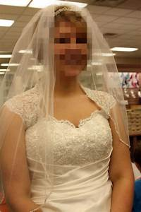 Go to Davids Bridal to see Dress, Veil, and Head Piece ...