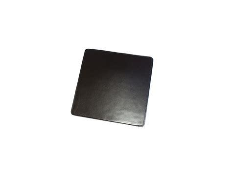 souris de bureau tapis souris en cuir noir