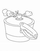 Stove Coloring Pages Cooker Pressure Sketch Eat Template sketch template