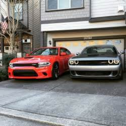 camaro vs mustang which is better 2015 dodge challenger srt hellcat and 2015 dodge charger srt hellcat going back to back
