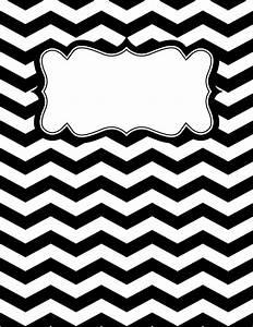 free printable black and white chevron binder cover With black and white binder cover templates