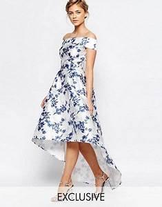 Robe Mi Longue Mariage : robe asymetrique mi longue fleurie mariage robes fleurs pinterest robe asym trique ~ Melissatoandfro.com Idées de Décoration
