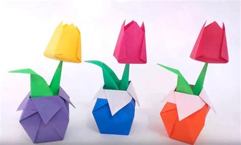 origami per bambini fiori tulipano origami per bambini fiori idea immagine