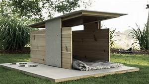Dog house designs with creative plans homestylediarycom for Cool dog kennel designs