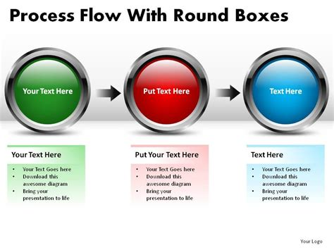 process flow   boxes powerpoint