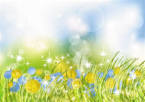 beautiful flower garden vector background ai svg eps