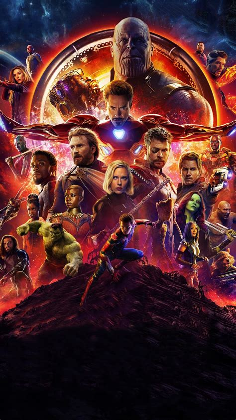 2160x3840 Avengers Infinity War Official Poster 2018 Sony