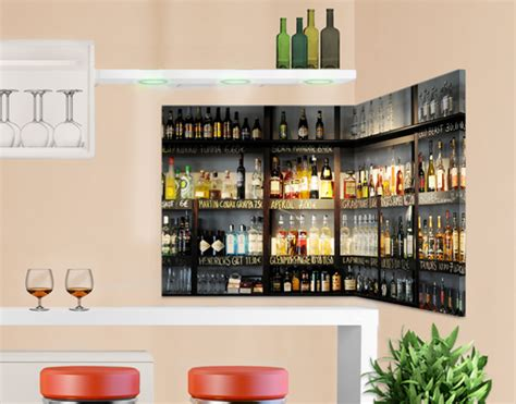 Alkohol Bar Für Zuhause by Eckleinwandbild Drink Bar 1 1 Regal Alkohol Kneipe