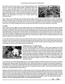 history  world war ii reading comprehension