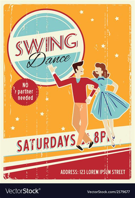 Retro party invitation design with sample text Royalty