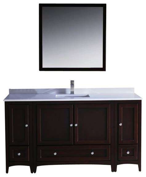 60 inch bathroom vanity single sink 60 inch single sink bathroom vanity mahogany transitional