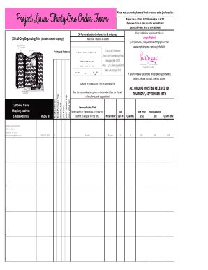 blank thirty one order form thirty one order form fill online printable fillable