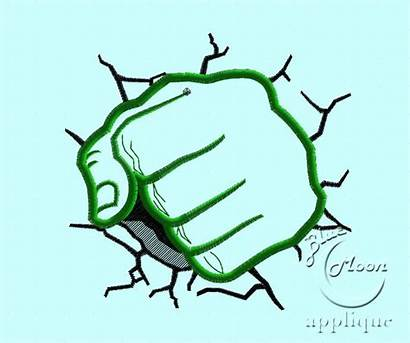 Hulk Fist Incredible Clip Applique Clipart Embroidery