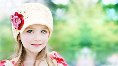 Lovely Baby Girl Desktop Background