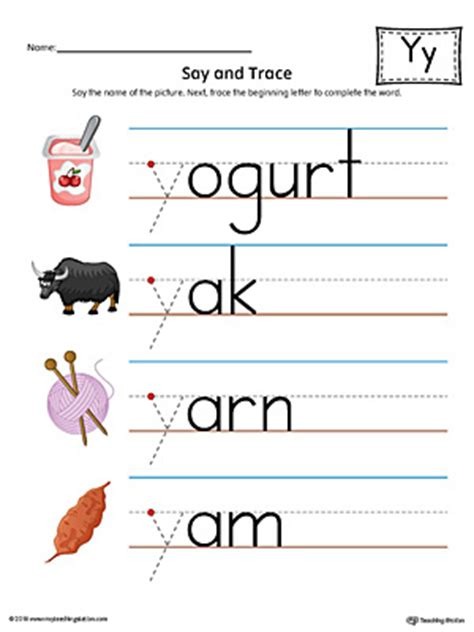 colors that start with y letter y do a dot worksheet color myteachingstation