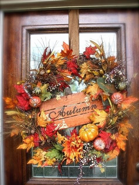 cute  inviting fall front door decor ideas digsdigs