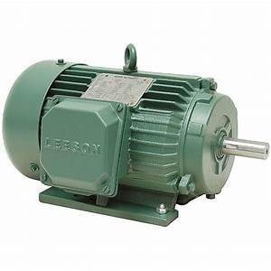 1 5 Hp 1800 Rpm 230  460 Volt Ac 3ph 145t Leeson Motor