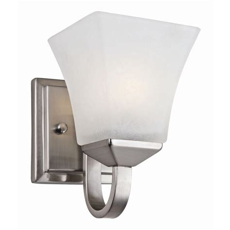home depot wall sconces design house torino 1 light satin nickel wall mount sconce