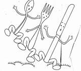 Embroidery Silverware Patterns Stitch Cross Nopatternrequired Template Dishes Towels Bordado Hand Kitchen sketch template
