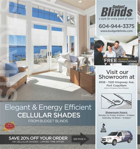 custom drapes flyer budget blinds flyer apr 7 to may 5 canada