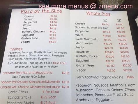 menu  pizza wagon  brooklyn restaurant sherman