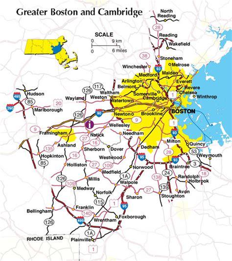 Map Of Massachusetts  Boston Map Pdf  Map Of
