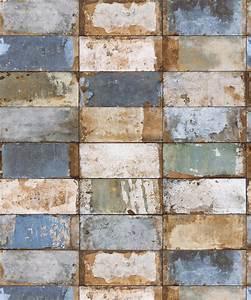 Fliesen Tapete Abwaschbar : vlies tapete stein fliesen riemchen klinker beige blau gold metallic verwittert kaufen bei ~ Yasmunasinghe.com Haus und Dekorationen