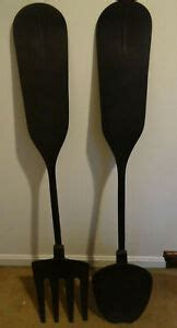 """Compared with shopping in real stores, purchasing products including wall decor on dhgate will endow you great benefits. Large Metal Black Fork Spoon Wall Decor 48"""" Country Farmhouse Rustic 