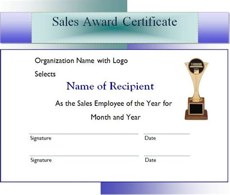 sales award certificate graphics  templates