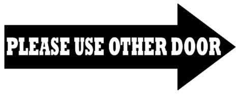 use other door use other door vinyl business sign 3x8 customize ebay
