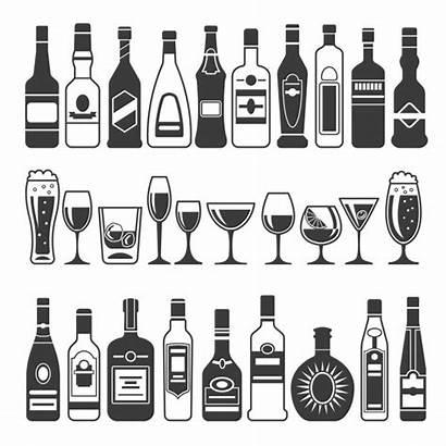 Bottle Vector Bourbon Bottles Clip Illustrations Alcoholic