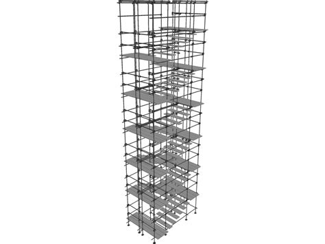 Scaffold Stairs 3d Model 3d Cad Browser