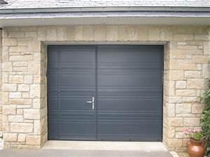 porte de garage avec portillon grille coulissante With porte de garage enroulable de plus porte coulissante en applique