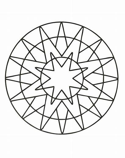 Mandala Coloring Mandalas Simple Pages Patterns Geometric