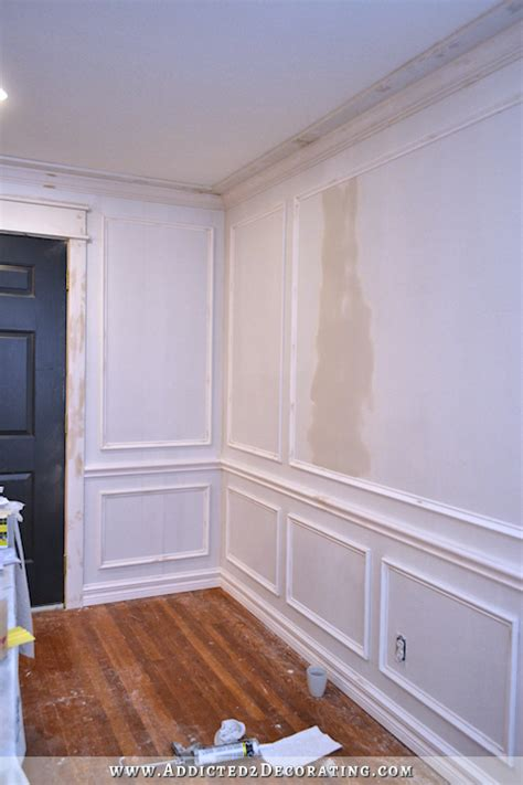 wall frame molding dining room entryway progress 3310