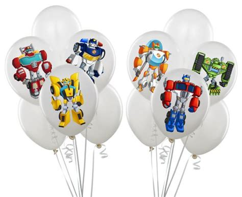 transformer cupcake topper template transformers rescue bots balloon stickers instant