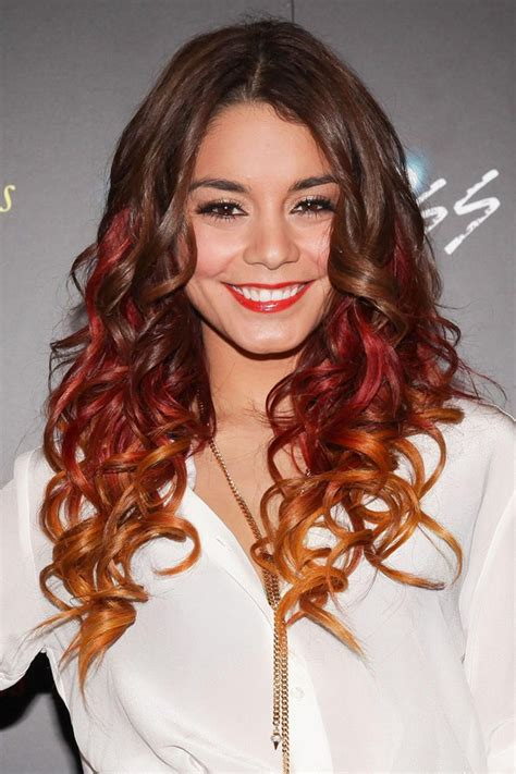 Vanessa Hudgens Ombre And Dip Dyed Hair Color Women