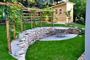 Achat Pied De Vigne Raisin De Table : treille avec vigne dans votre jardin faire une pergola ou une treille avec vignes ~ Nature-et-papiers.com Idées de Décoration