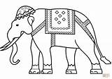 Coloring India Elephant Indian Printable Drawing Flag Nepal Pakistan Puzzle Paper Getdrawings sketch template
