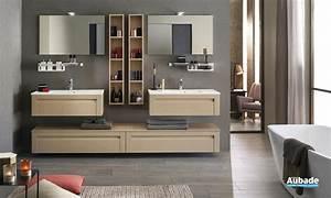 meubles salle de bains unique wood 90 cm delpha espace With magasin aubade salle de bain