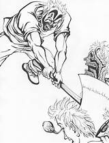 Icp Coloring Pages Clown Juggalo Axe Posse Hatchet Insane Drawing Deviantart Kokopelli Tattoos Getdrawings Template Getcolorings Printable Selected Battle Practical sketch template